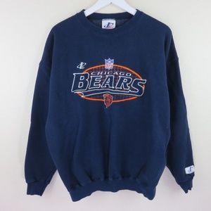 Logo AthlVintage Chicago Bears Crewneck Sweatshirt